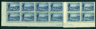 SG 148a 1934 3d Centenary of Victoria perf 11½ imprint block (AG6/232)